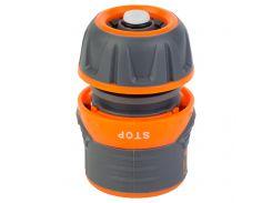 """Коннектор ½"""" быстросъёмный для шланга ½"""" аквастоп с замком FLORA (5015434)"""