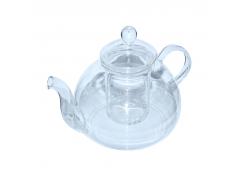 Чайник стеклянный с металлическим ситом Жемчужина 600 мл Османтус
