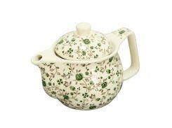 Чайник керамический с металлическим ситом Домашний зеленый 350 мл Османтус