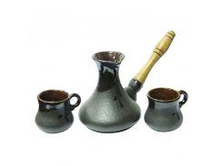 Набор турка керамическая 400 мл + 2 ч-100 мл Восточный Османтус