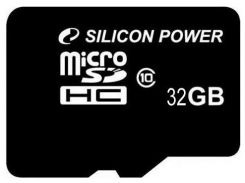 Карта памяти microSDHC SiliconPower 32Gb class 10