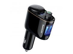АЗУ с FM-модулятором Baseus Locomotive Wireless MP3 Vehicle Charger Black