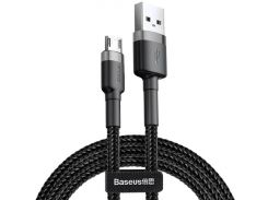Кабель Baseus cafule Cable USB For Micro 2.4A 1M Gray+Black