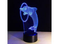 """3D светильник """"Дельфин"""" (1100)"""