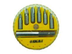 Набор бит + адаптер 7шт S2 (пласт кейс) Sigma (4013101)