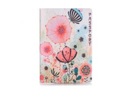 Обложка для паспорта ZIZ Цветы маки (10021)