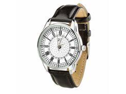 Часы ZIZ Биг Бен (ремешок насыщенно - черный, серебро) + дополнительный ремешок (4604253)