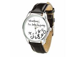 Часы ZIZ Late white (ремешок насыщенно - черный, серебро) + дополнительный ремешок (4606053)