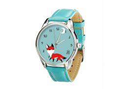 Часы ZIZ Маленький лис (ремешок небесно - голубой, серебро) + дополнительный ремешок (4605066)
