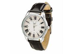 Часы ZIZ Лондонский вокзал (ремешок насыщенно - черный, серебро) + дополнительный ремешок (4605653)