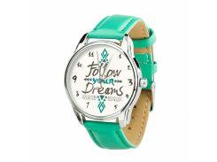 Часы ZIZ За своей мечтой (ремешок мятно - бирюзовый, серебро) + дополнительный ремешок (4609864)