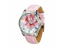 Часы ZIZ Цветение (ремешок пудрово - розовый, серебро) + дополнительный ремешок (4612162)