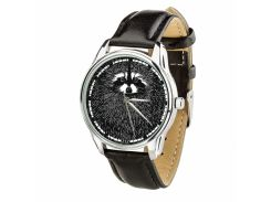 Часы ZIZ Енот (ремешок насыщенно - черный, серебро) + дополнительный ремешок (4612253)