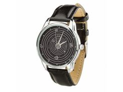 Часы ZIZ Планеты (ремешок насыщенно - черный, серебро) + дополнительный ремешок (4613253)