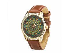 Часы ZIZ Золотые узоры (ремешок кофейно - шоколадный, золото) + дополнительный ремешок (4602872)