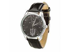 Часы ZIZ Герб (ремешок насыщенно - черный, серебро) + дополнительный ремешок (4615853)