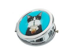 Карманное зеркало ZIZ Кот со стаканом (27019)