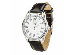Часы ZIZ Римская классика белая (ремешок насыщенно - черный, серебро) + дополнительный ремешок (4616153)