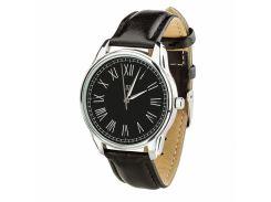 Часы ZIZ Римская классика черная (ремешок насыщенно - черный, серебро) + дополнительный ремешок (4616253)