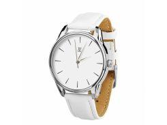 Часы ZIZ Черным по белому (ремешок кокосово - белый, серебро) + дополнительный ремешок (4616354)