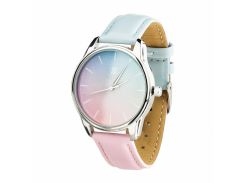 Часы ZIZ Розовый кварц и Безмятежность (ремешок голубо-розовый, серебро) + дополнительный ремешок (4615085)