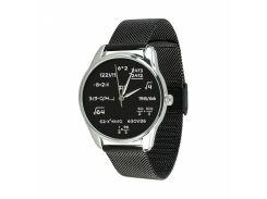 Часы ZIZ Математика (ремешок из нержавеющей стали черный) + дополнительный ремешок (5001089)