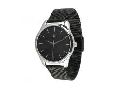 Часы ZIZ Белым по черному (ремешок из нержавеющей стали черный) + дополнительный ремешок (5016489)