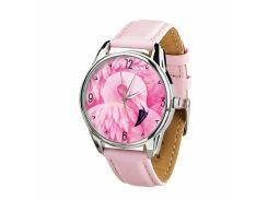 Часы ZIZ Фламинго (ремешок пудрово - розовый, серебро) + дополнительный ремешок (4617162)