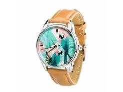Часы ZIZ Попугай (карамельно - коричневый, серебро) + дополнительный ремешок (4617555)