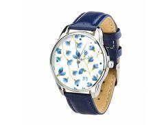 Часы ZIZ Сама нежность (ремешок ночная синь, серебро) + дополнительный ремешок (4617667)