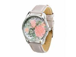 Часы ZIZ Пионы (нежно - лавандовый, серебро) + дополнительный ремешок (4617958)