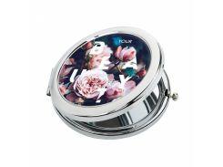 Карманное зеркало ZIZ Розы (27041)