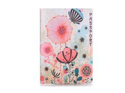 Обложка для паспорта ZIZ Цветы маки