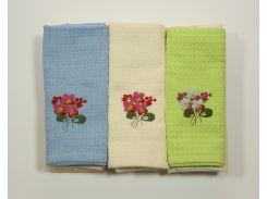 Набор полотенец Цветы в ассорт. (12 шт)