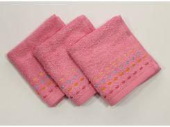 Полотенце 30х30 Розовое (1 шт)