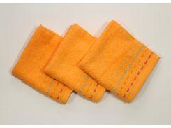 Полотенце 30х30 Оранжевое (1 шт)