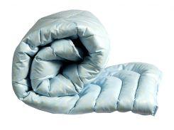 """Одеяло лебяжий пух """"Голубое"""" евро"""