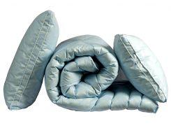 "Одеяло лебяжий пух ""Голубое"" 1.5-сп. + 2 подушки 70х70"