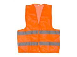 Жилет сигнальный оранжевый XXL (62*70см), 100 гр/м2 INTERTOOL SP-2026