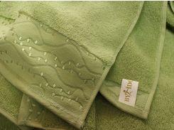 Полотенце махровое ByIdo зеленое 50х90