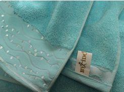 Полотенце махровое ByIdo голубое 50х90