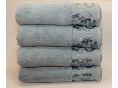 Полотенце махровое Hobby голубое 70х140
