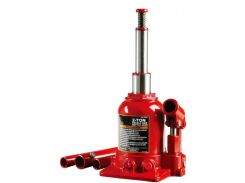 Домкрат гидравлический двухштоковый 2т 150-370 мм низкопрофильный TORIN TF0202
