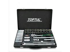 """Комбинированный набор инструментов TOPTUL 1/2"""" 41 ед. (короткие+длинные головки) GCAD4102"""