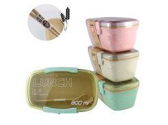 Ланчбокс c ложечкой и вилкой 2 отделения из экологического сырья Lunch Box