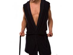 Мужской черный халат