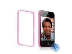 Розовая боковая защитная пленка для iPhone 4/4S