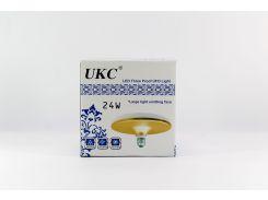 Светодиодная лампочка - светильник LED UKC 1202 220V / 24W / E27 / плоская