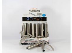 Брелок LASER ZK 9128 ультрафиолетовый лазер и фонарик (Цена за упаковку 24 штуки)