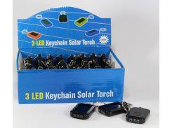 Фонарик брелок AX001 с солнечной панелью (Цена за упаковку 24 штуки)